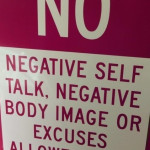 No negative self-talk