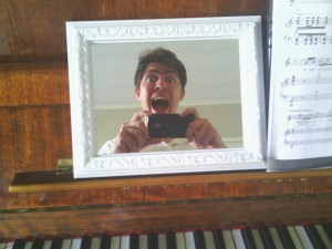 A mirror, to see my own face during my piano improvisations. (Seth Roberts' faces therapy)