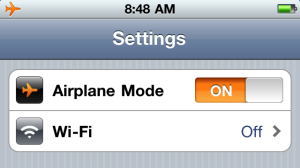 airplane mode rfr radiofrequency radiation