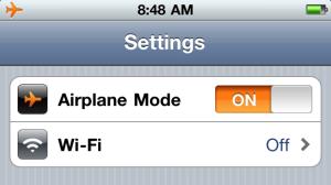 airplane mode rfr radiofrequency radiation