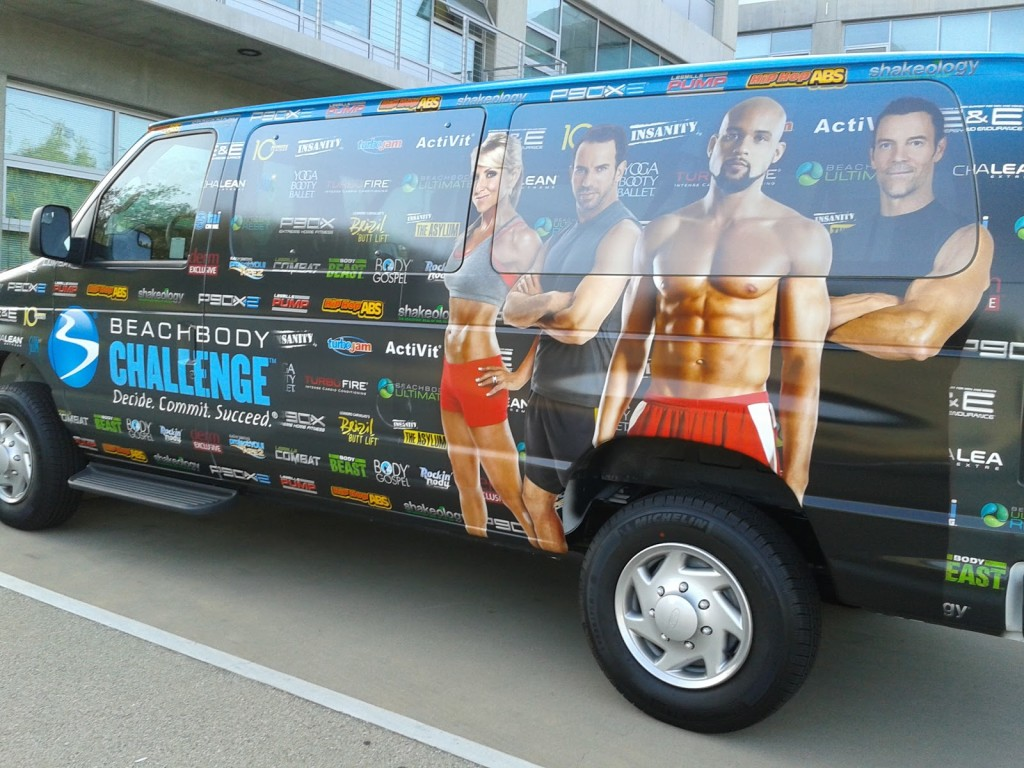protein shake car billboard